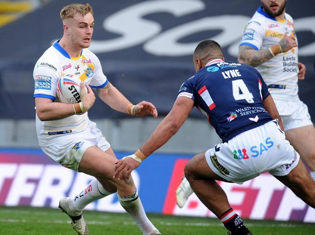 Alex Sutcliffe is among players who have graduated to Leeds Rhinos' first team from their academy. Picture by Steve Riding.