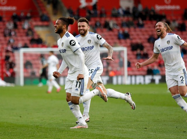 MESSAGE SENT - Tyler Roberts put the exclamation mark on his application for a place in Wales' Euros squad with his goal for Leeds United at Southampton. Pic: Getty
