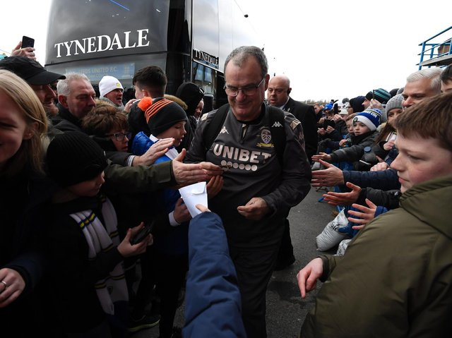 WELCOME RETURN - Marcelo Bielsa looks forward to the return of Leeds United fans for tomorrow's Premier League finale at Elland Road. Pic: Getty