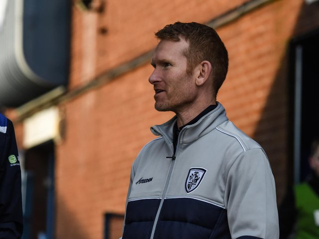 Rovers coach James Webster. Picture by Dec Hayes/Featherstone Rovers.