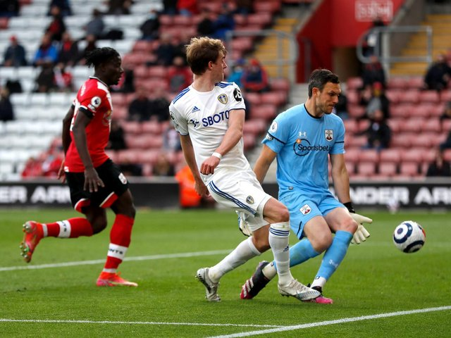 ANOTHER ONE: Leeds United striker Patrick Bamford takes his tally to 16 goals for the Premier League season in Tuesday evening's 2-0 triumph at Southampton. Photo by Frank Augstein - Pool/Getty Images.