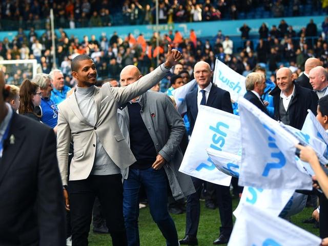 Leeds United hero Jermaine Beckford at Elland Road during the centenary celebrations in 2019. Pic: Jonathan Gawthorpe
