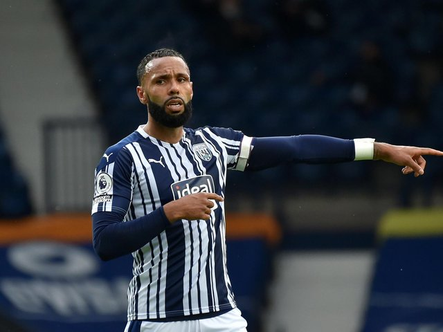 FAMILIAR FACE: West Brom's former Leeds United loanee centre-back Kyle Bartley who will likely be key to dealing with Whites striker Patrick Bamford. Photo by Shaun Botterill/Getty Images.