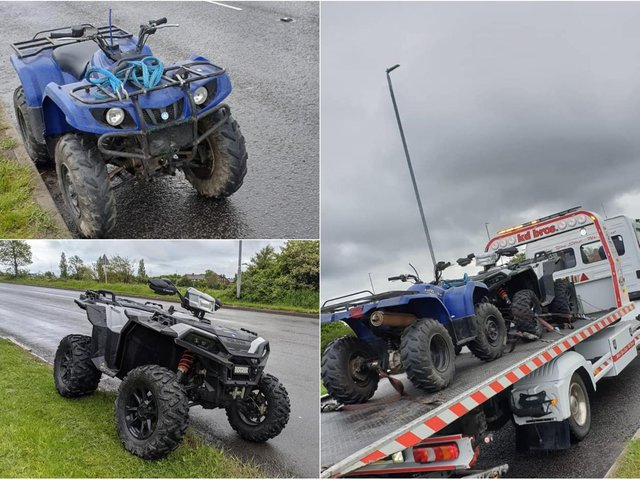 Police seize illegal quad bikes in Leeds as rider attempts getaway