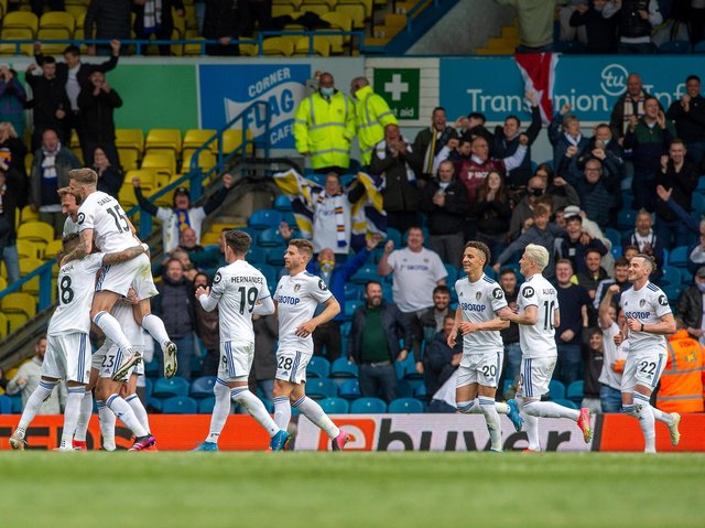 HAPPY ENDING - Leeds United beat West Brom 3-1 at Elland Road in front of around 8,000 fans, in the final game of the season. Pic: Bruce Rollinson