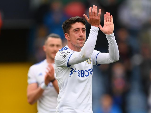 FAREWELL: Leeds United playmaker Pablo Hernandez is given a standing ovation as emotions run high at Elland Road. Photo by Stu Forster/Getty Images.