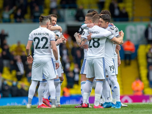 FOND FAREWELL - Pablo Hernandez and Gaetano Berardi had the send-off they deserved in Leeds United's 3-1 win over West Brom. Pic: Bruce Rollinson