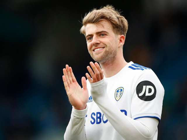 WAITING GAME: For Leeds United striker Patrick Bamford, above, who will discover on Tuesday lunchtime if he has made Gareth Southgate's England squad for the Euros. Photo by LYNNE CAMERON/POOL/AFP via Getty Images.