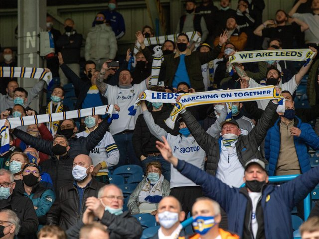 BACK, AND HERE TO STAY: Leeds United's supporters finally get to see Premier League football in Sunday's 3-1 victory at home to West Brom. Picture by Bruce Rollinson.
