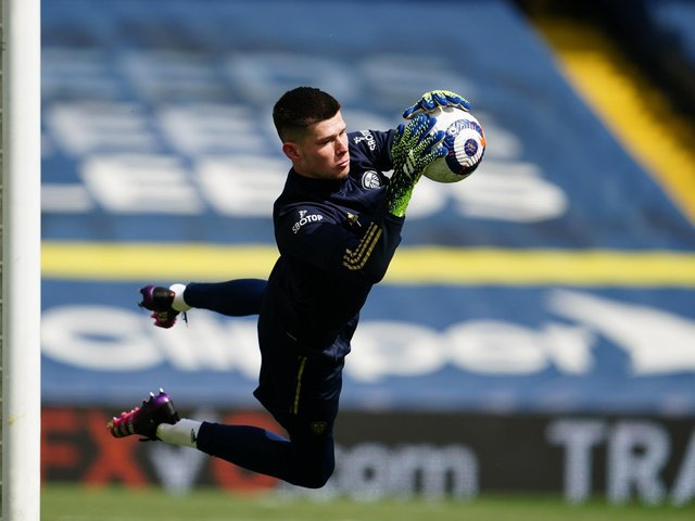 LOOKING GOOD: For Leeds United keeper Illan Meslier, above, to finally make his debut for France's under-21s. Photo by Jon Super - Pool/Getty Images.
