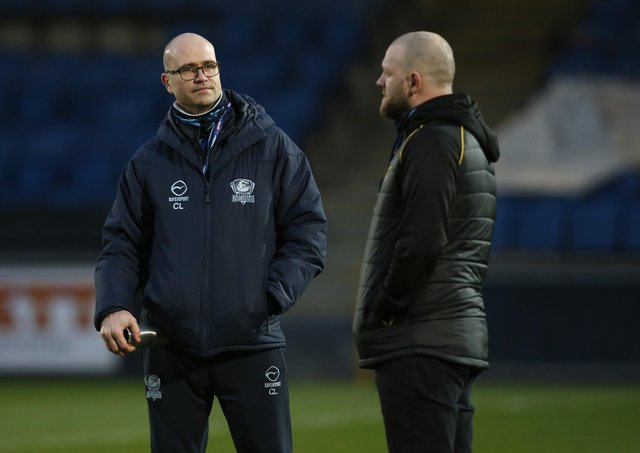 Batley Bulldogs head coach Craig Lingard, left, with Halifax Panthers head coach Simon Grix, believes the rugby league community has been united by the RFL announcement of academy licences.  Picture: Ed Sykes/SWpix.com.