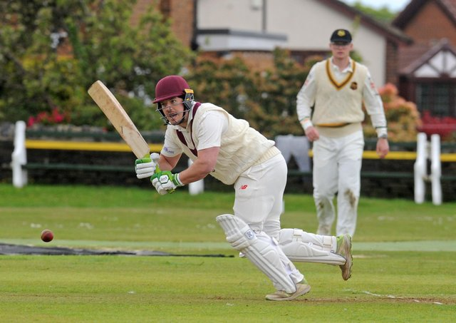 Henry Rush of Morley who scored 54 in his side's four-run win at Pudsey St Lawrence. Picture: Steve Riding.