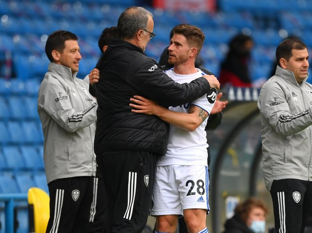 EMOTION FILLED - Gaetano Berardi was reduced to tears in his final outing for Leeds United at Elland Road. Pic: Getty