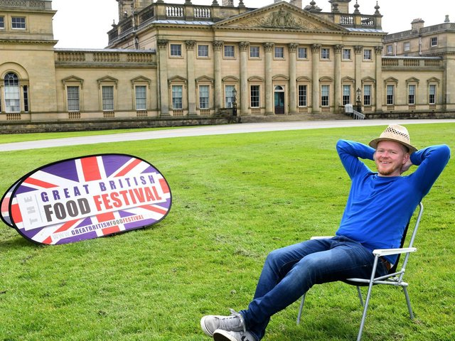 Nick Maycock, organiser of the Great British Food Festival which is being held at Harewood House this Bank Holiday weekend (photo: Gary Longbottom)