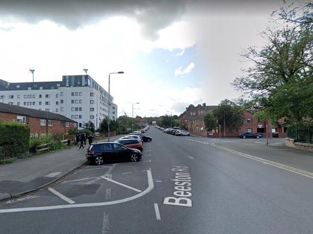 Daniel Barker drove at more than 50mph in a 20mph zone on Beeston Road.  Image: Google