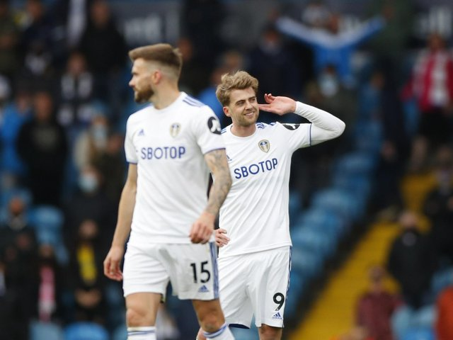 LOUD AND CLEAR: Leeds United striker Patrick Bamford's claims to make Gareth Southgate's England squad for the Euros are obvious after netting his 17th goal at the weekend, above. Photo by Jon Super/PA Wire.