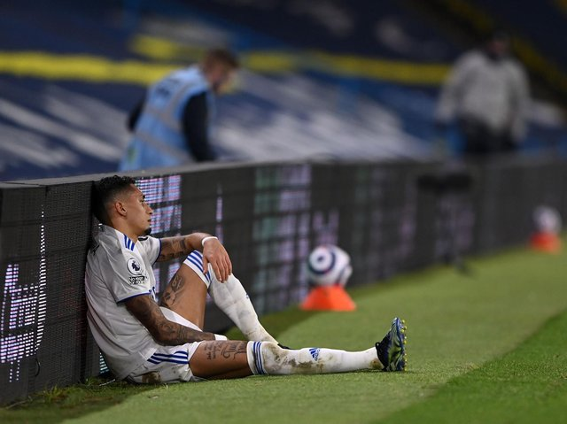 FIERY CHARACTER - Raphinha has shown his pace, skill, vision, movement and anger on the field for Leeds United this season. Pic: Getty