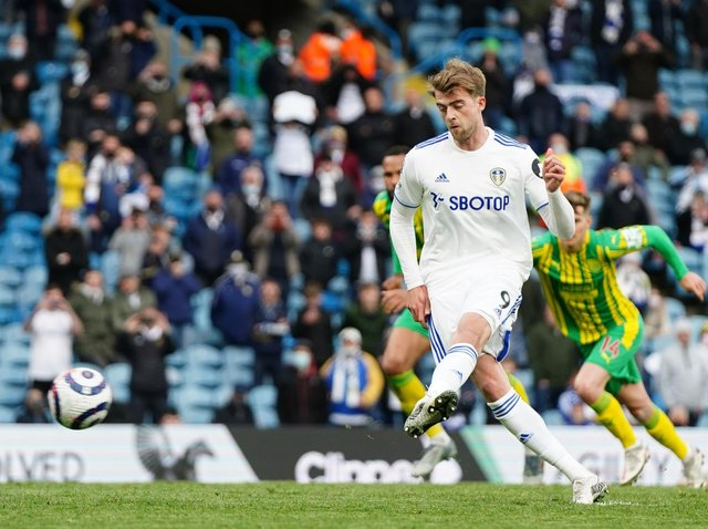 MISSED OUT - Leeds United's top goalscorer Patrick Bamford is not among Gareth Southgate's forwards in the provisional England squad for the Euros. Pic: Getty