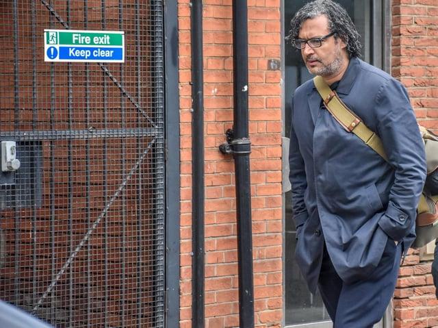 David Olusoga in Headingley (photo: Mark's History).