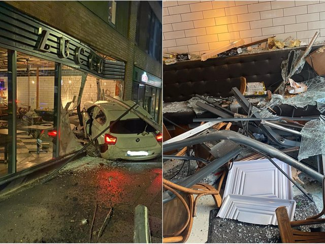 Zucco shared pictures of its smashed up restaurant on social media