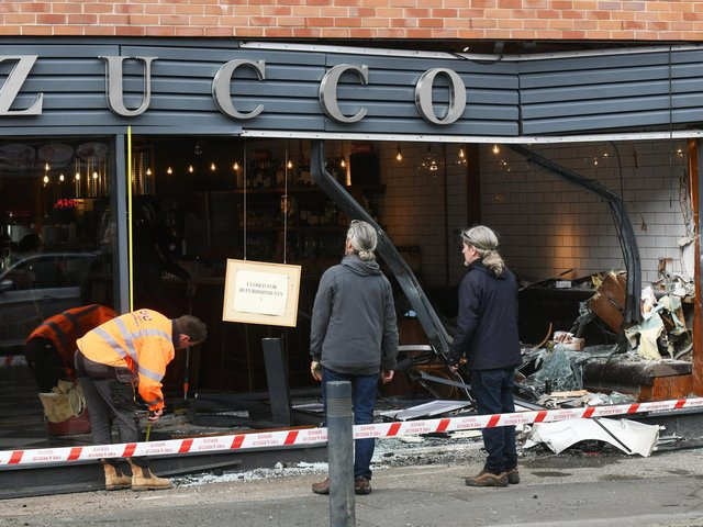 The aftermath damage at Zucco restaurant in Meanwood (photo: Gary Longbottom)