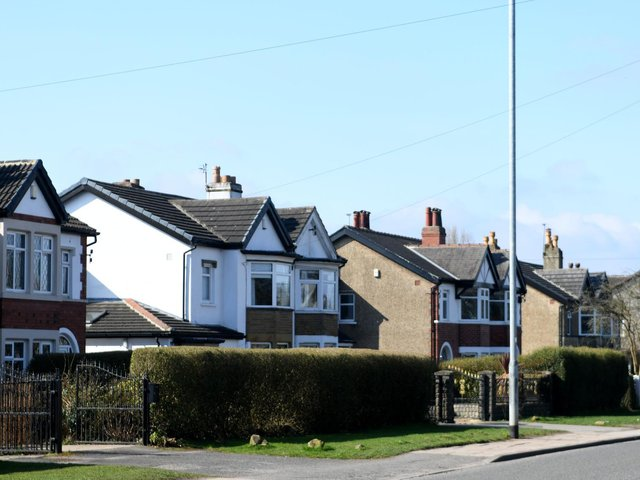 Around 1.52 million UK house sales are expected across 2021, up by 45 per cent  compared with last year. Pictured: Whitkirk