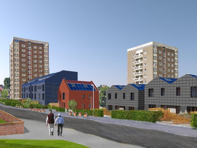A CGI image of what the new Leeds Community Homes development will look like in Armley.