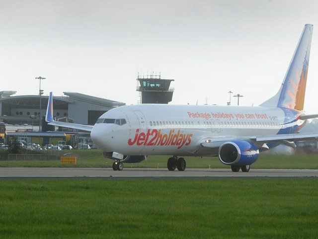 International flights and departures have resumed at Leeds Bradford Airport but most destinations currently appear on the amber travel list. Picture: Simon Hulme