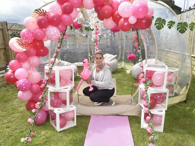 Hayley O Brien, 35, launched her bell and bubble tent business in June 2020