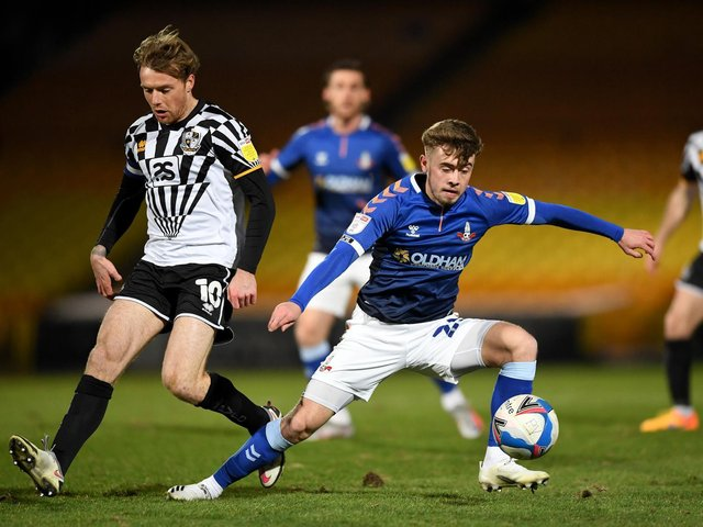DIFFERENT PLAYER - Alfie McCalmont has developed at Oldham Athletic in the 'muck and bullets' of League Two says Northern Ireland boss Ian Baraclough. Pic: Getty