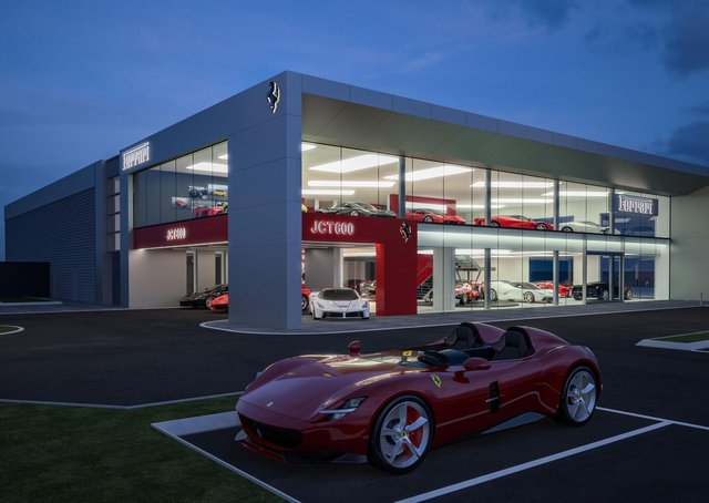 Work is finally underway on the new Ferrari Leeds showroom.