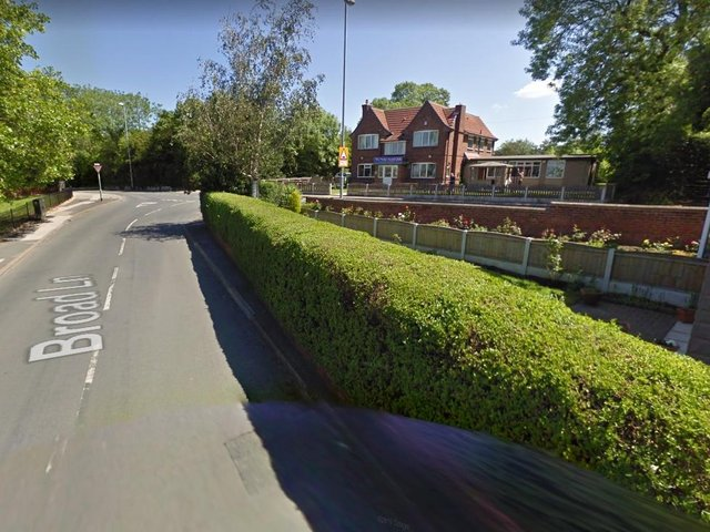 The pursuit started on Broad Lane, South Elmsall.  Image: Google