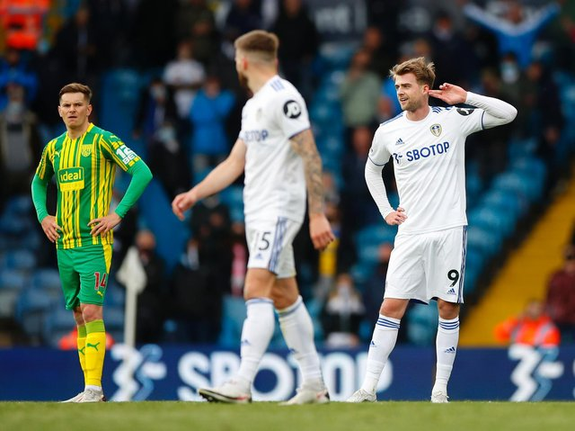 FIERCE DEFENCE - Leeds United supporters have made clear what they think of Gareth Southgate's decision not to include Patrick Bamford in his 33-man provisional squad for the Euros. Pic: Getty
