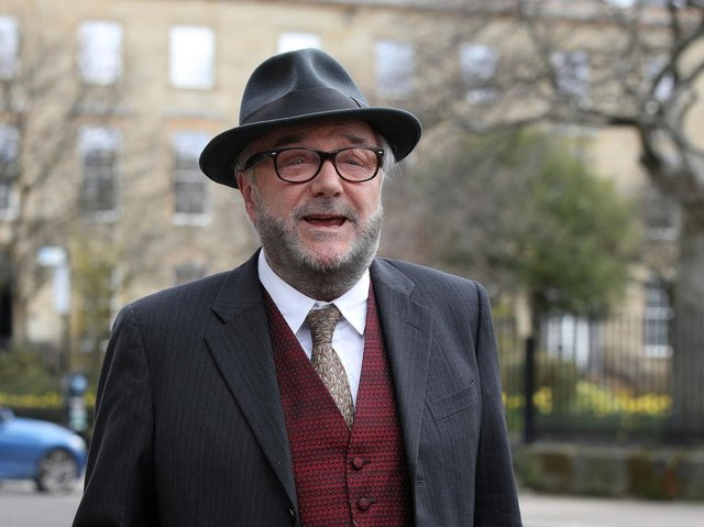 File photo dated 07/04/21 of former MP and veteran campaigner George Galloway who has announced he is running in the forthcoming Batley and Spen by-election with the explicit aim of ousting Sir Keir Starmer as leader of the Labour Party. Pic: PA
