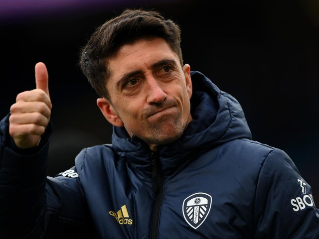 THUMBS UP: For Leeds United's future from outgoing playmaker star Pablo Hernandez. Photo by Stu Forster/Getty Images.