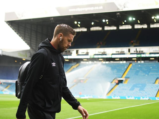 ALMOST THERE: Former Leeds United defender Pontus Jansson, pictured on his return to Elland Road with Brentford, is now just one game away from achieving his Premier League dream with the Bees. Photo by George Wood/Getty Images.