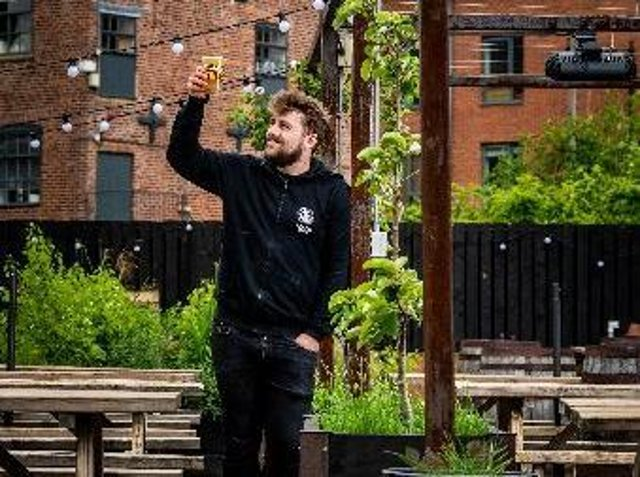 Sam Johnson is the bar operations manager for Northern Monk (photo: James Hardisty)