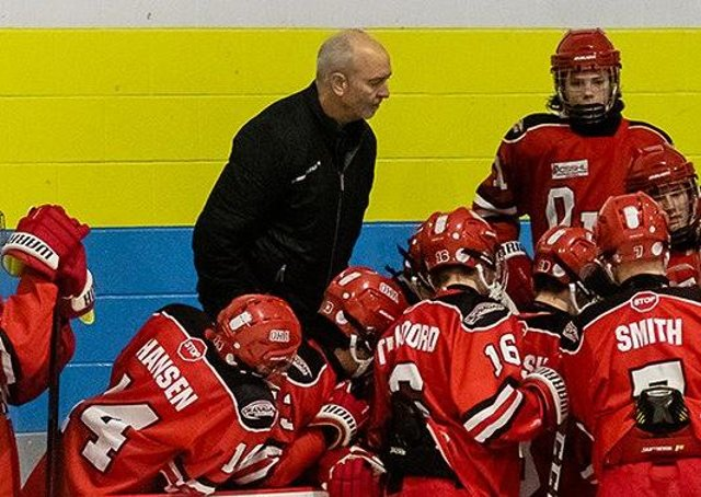 Dave Whistle, coaching youngsters at the Okanagan Hockey Academy. Picture courtesy of OHA.