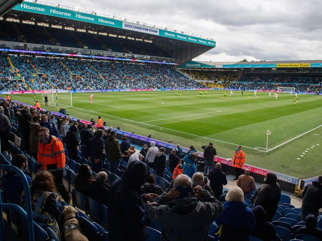 Leeds United fans returned to Elland Road for the first time in 14 months last weekend. Pic: Bruce Rollinson