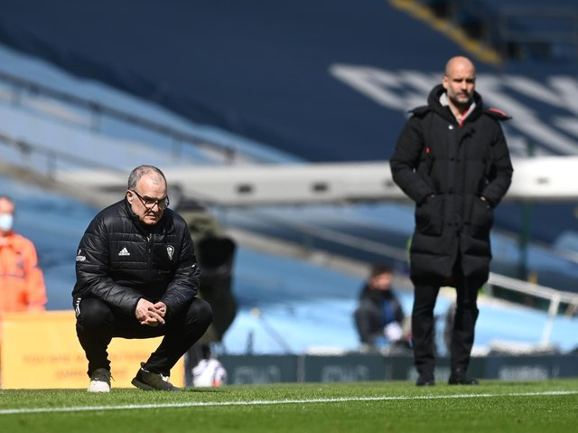 TOP BOSSES - Leeds United head coach Marcelo Bielsa and Manchester City supremo Pep Guardiola have both been shortlisted for the Barclays Premier League Manager of the Season award. Pic: Getty