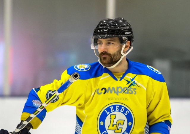 STICKING AROUND: Sam Zajac will remain part of Leeds Knights, this time strictly as a key defenceman for new head coach, Dave Whistle. Picture courtesy of Mark Ferriss.