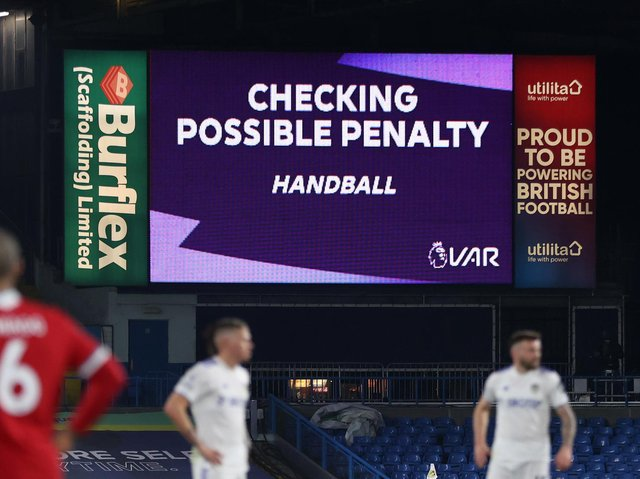 VAR CHECK - Leeds United were hit by a number of controversial and marginal decisions this season in the Premier League, with CEO Angus Kinnear an outspoken critic of the video technology. Pic: Getty
