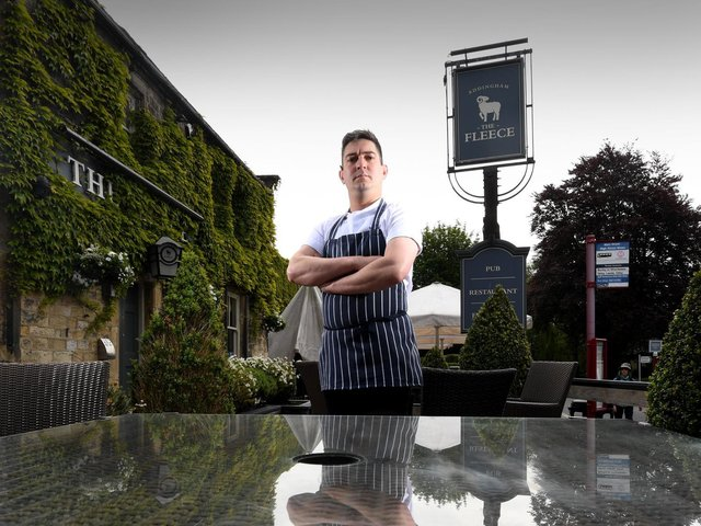 Yorkshire chef Will Bonfield, 37, has taken over the kitchen at The Fleece in Addingham