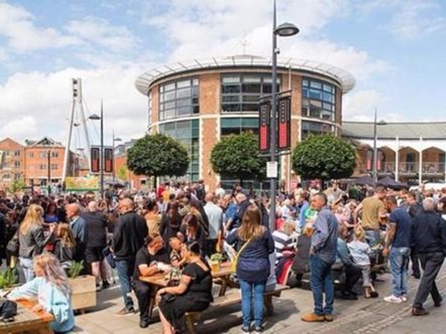 The Brewery Wharf Waterfront Festival Leeds in a previous year