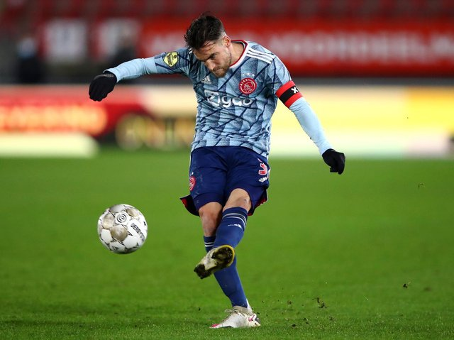 HEAVILY LINKED - Nicolas Tagliafico of Ajax has been consistently linked with a move to fill the left-back slot at Leeds United but a source close to the player insists no talks with the Whites have taken place. Pic: Getty