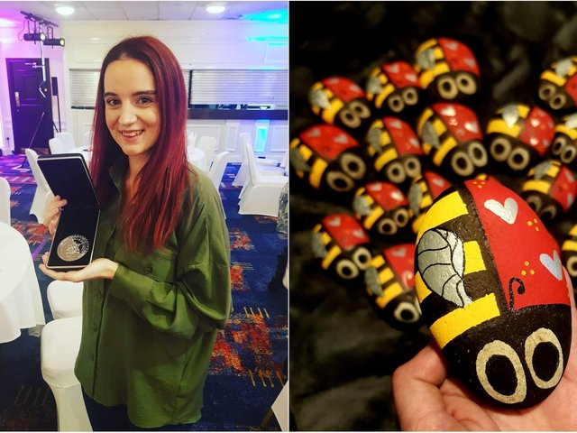 Ashlee Holt, 29, created the Remembugs project in 2019 - a painted pebble in the form of a ladybird, with each named after someone who has passed away.
