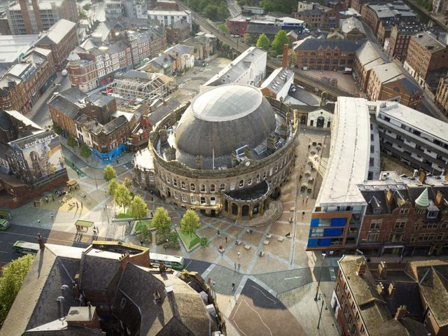 An artist's impression of the Corn Exchange, after imrpovements.