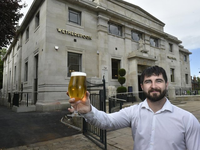 Manager of Headingley Wetherspoons The Golden Beam, Chris Donoghue.