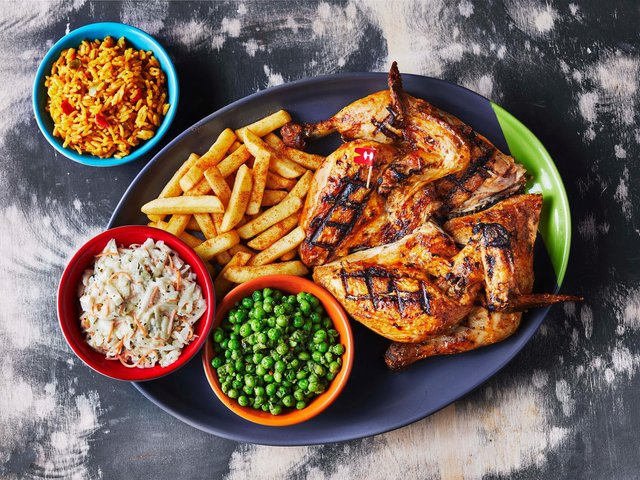 Nando's is offering 50 per cent off if you take someone over 65 (photo: Nando's).