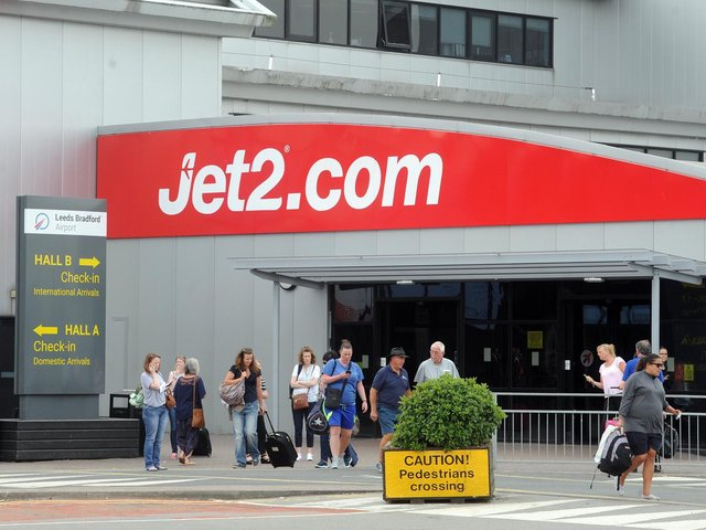 Jet2 at Leeds Bradford Airport.